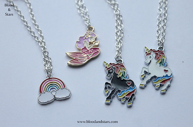 Cute Enamel Charm Necklaces