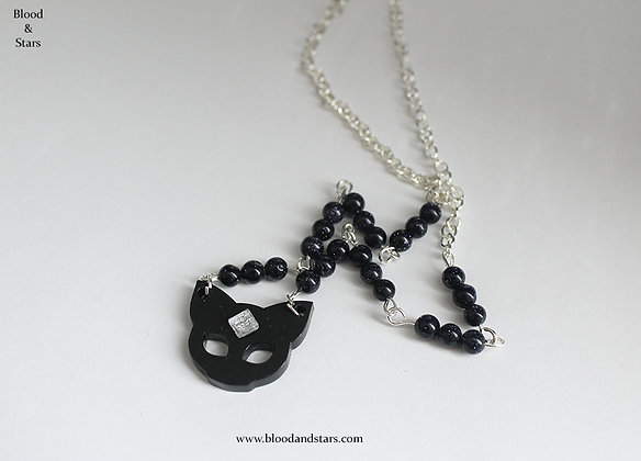 Cat Gemstone Pendant Necklace