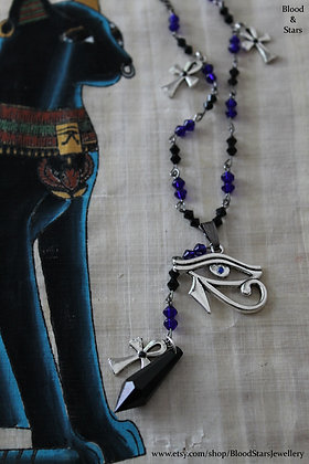 Eye of Horus Rosary Necklace