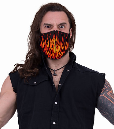 Tribal Flames Face Mask (Spiral)