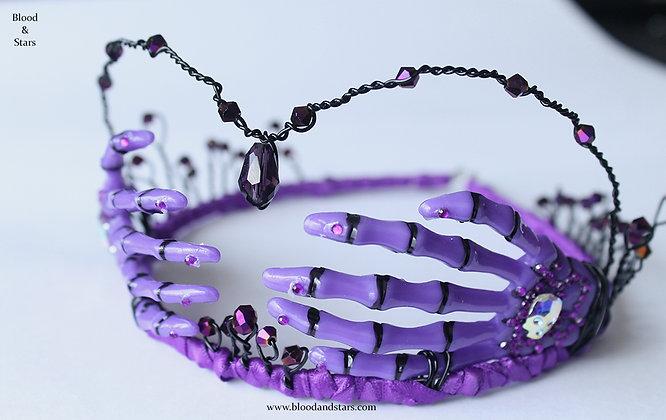 Purple Skeleton Bone Hand Tiara
