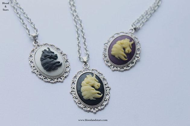 Small Unicorn Cameo Necklace