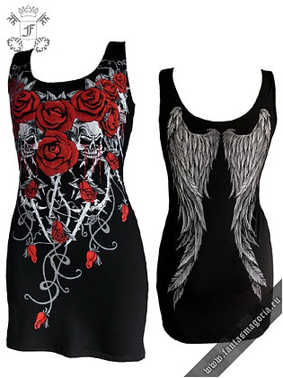 Bloody Roses Tunic Dress