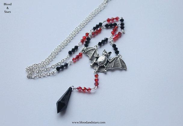 Vampire Bat Rosary Necklace