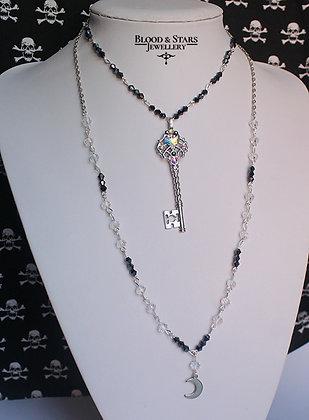 Gothic Moon Key Necklace