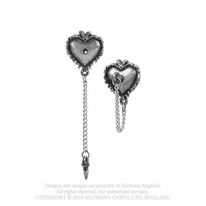 Witches Heart Studs (Alchemy Gothic)