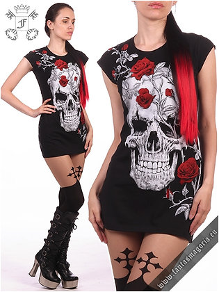 Skull Roses Tunic Top