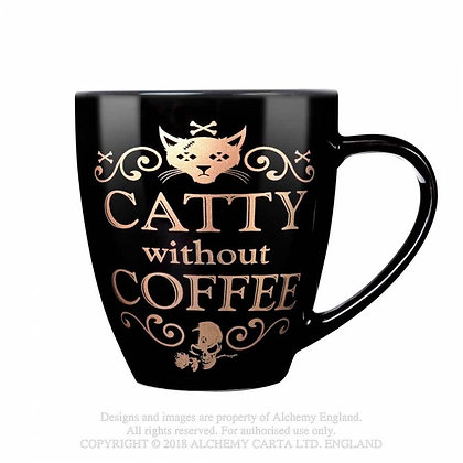 Catty Without Coffee Mug (Alchemy Gothic)