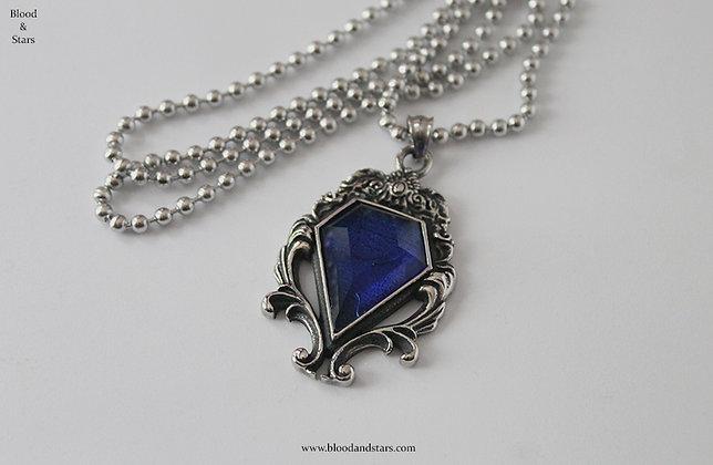 Gothic Blue Stone Pendant