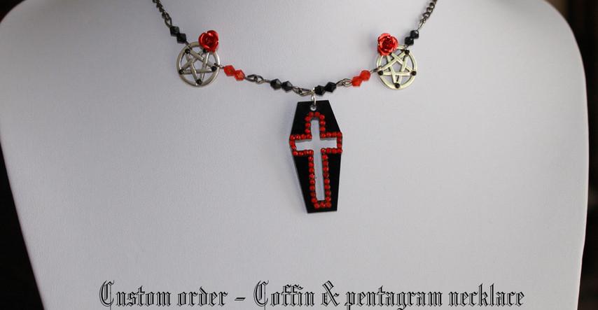 Coffin Pentagram Necklace