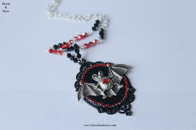 Vampire Princess Bat Cameo Necklace