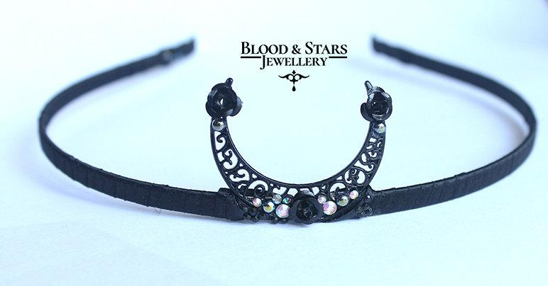Black Moon Tiara Head Band