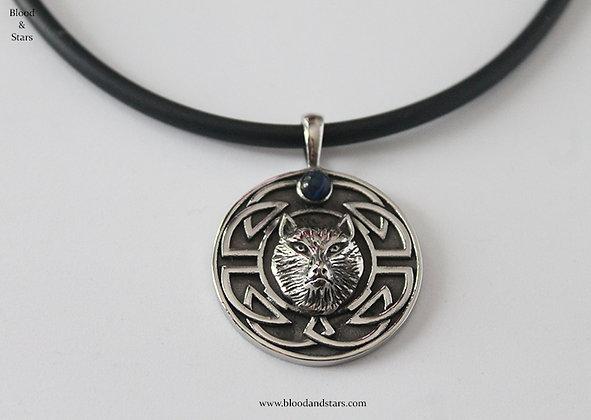 Wolf Viking Circle Pendant
