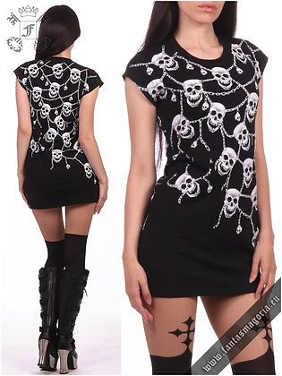 Glowing Skulls Tunic Top