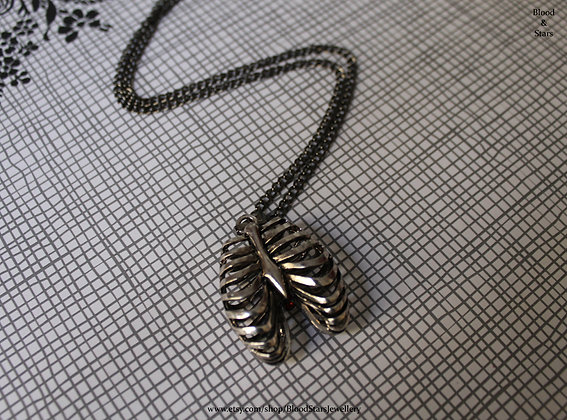 Anatomical Ribcage Necklace