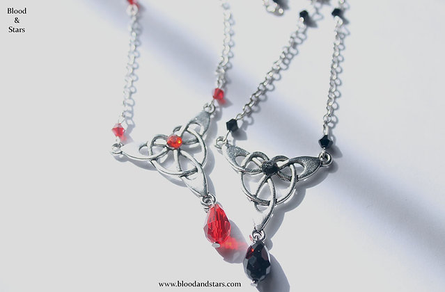 Gothic Celtic Teardrop Necklace