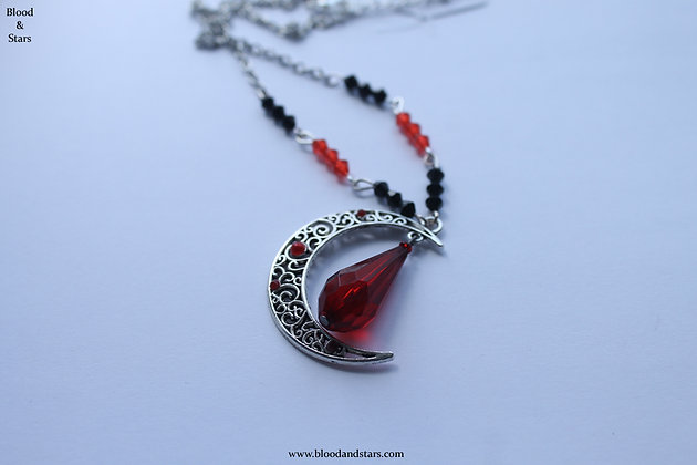 Filigree Moon necklace