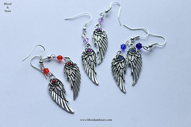 Rose Wing Earrings