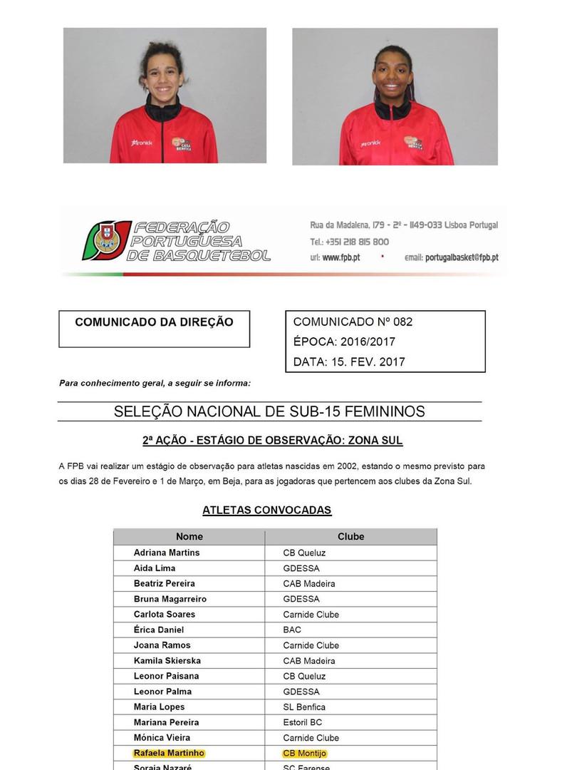 Estágios Seleção Nacional