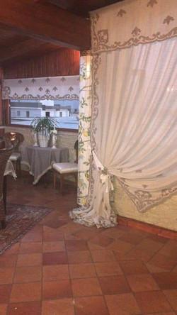 Nuvola Lilium curtain with pelmet