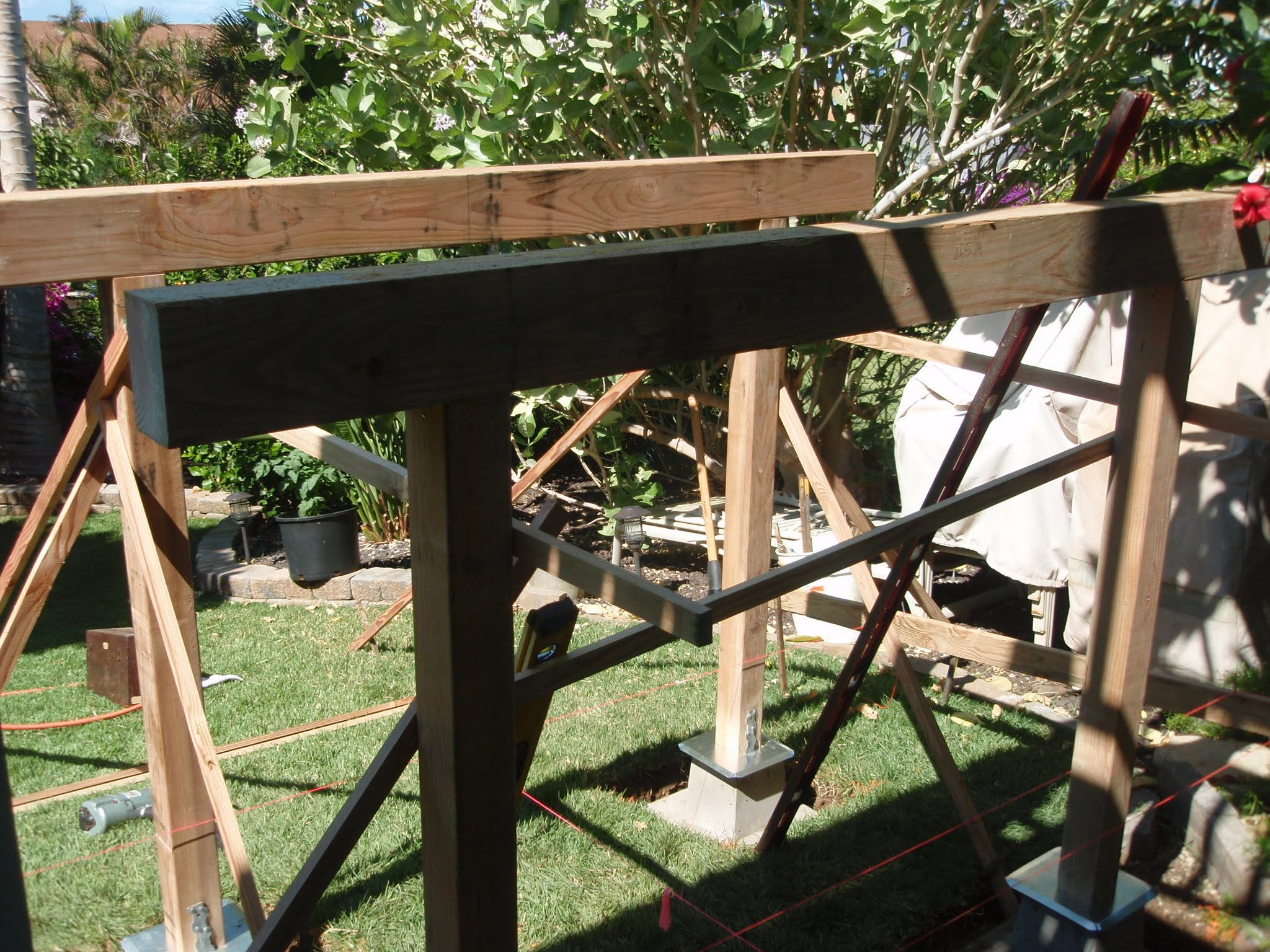 Framing for the stair landing.jpg Another MUST BE precise & level substructure
