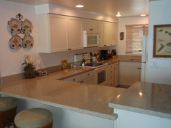Completely new kitchen cabinets and new Silestone counter tops