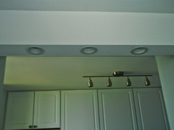 Custom soffit with can lights