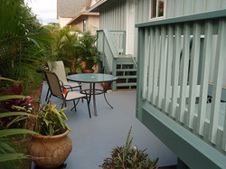 Beautifully finished deck with color coat & non skid surface