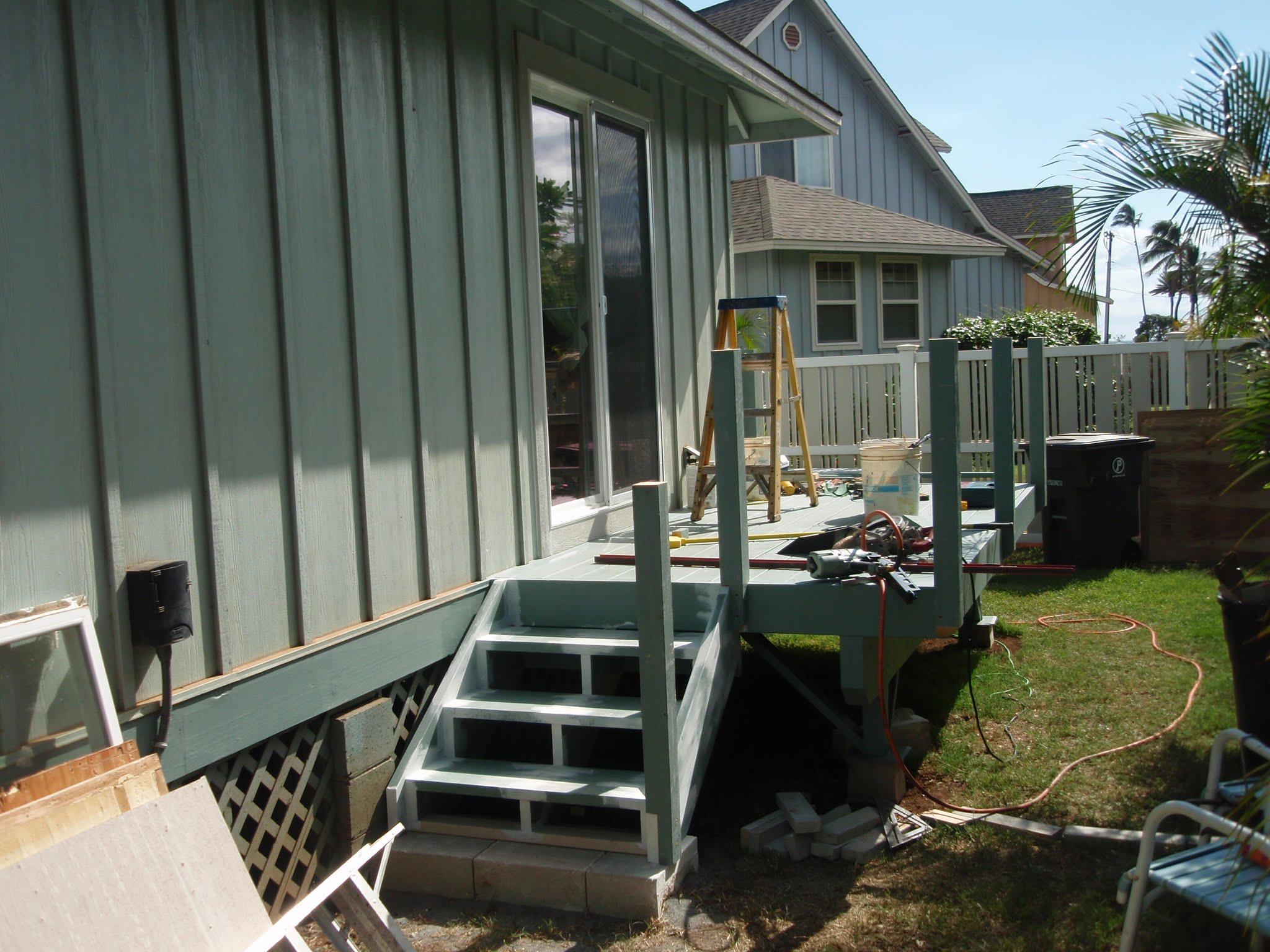 Addition of deck outside master bedroom