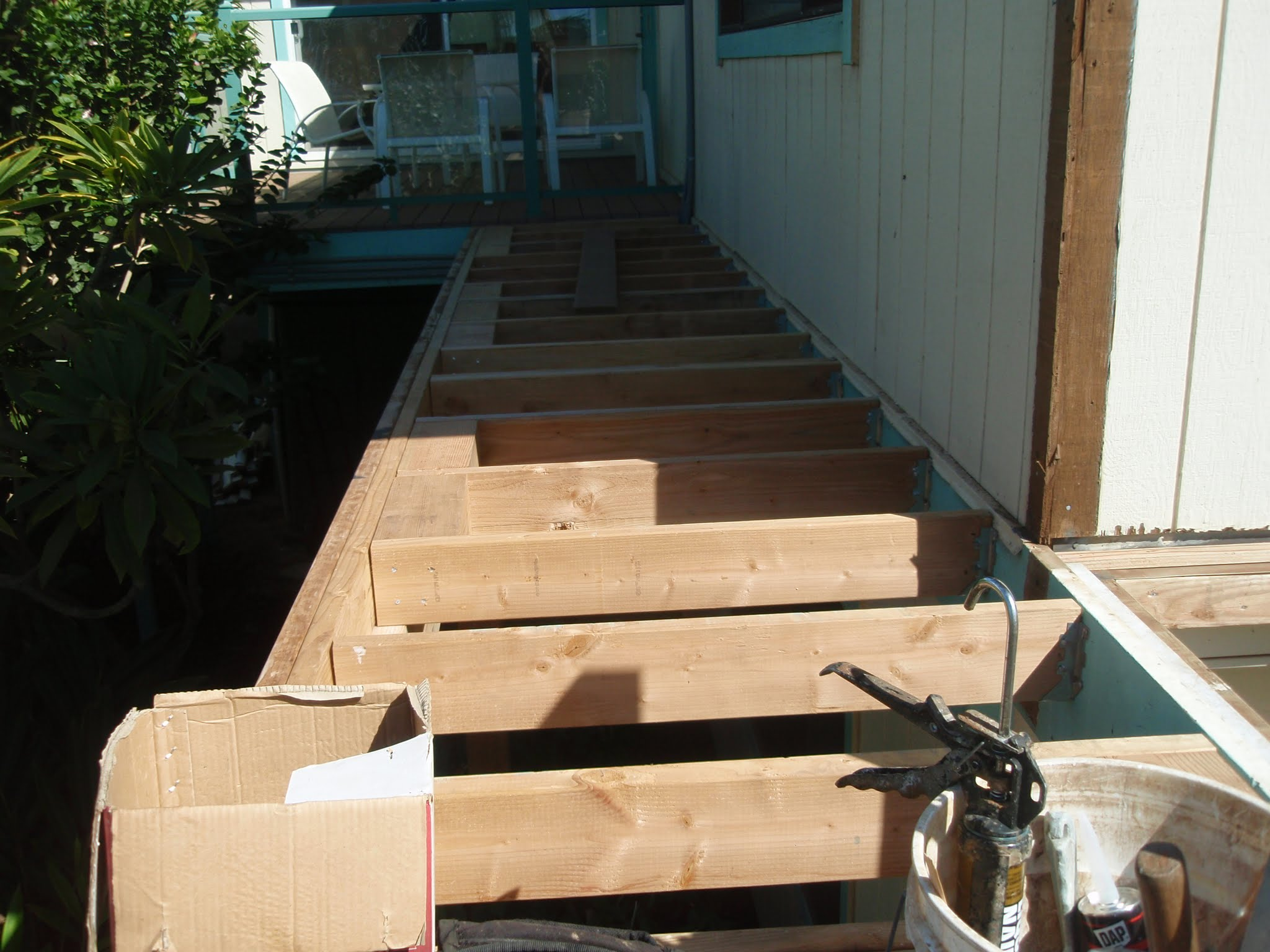 This bridge will have Trex 1 x 6 planks for its finish to match the existing front decking