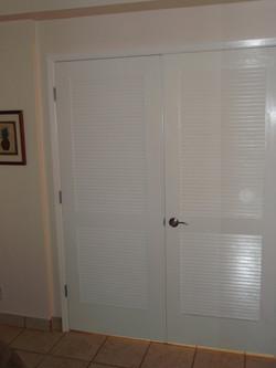 New bedroom doors and wall