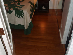 All new wood flooring installed