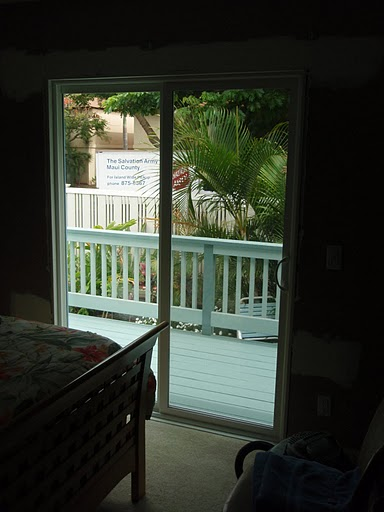 Window changed out to a new sliding glass door