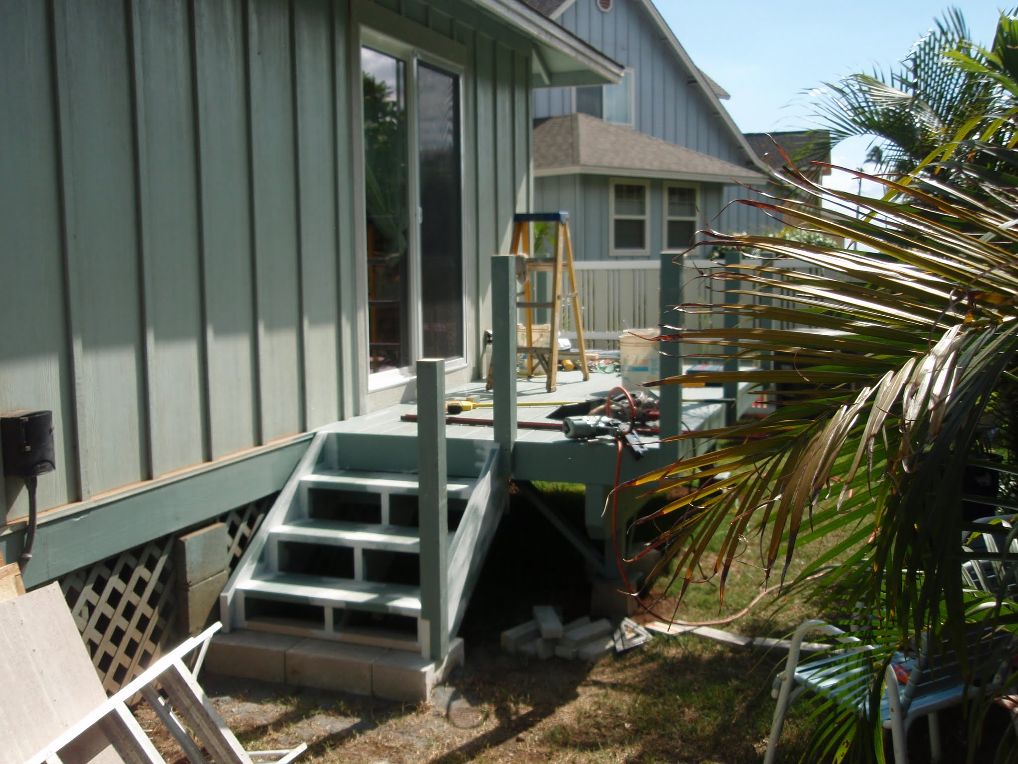 Stairs down from deck 2