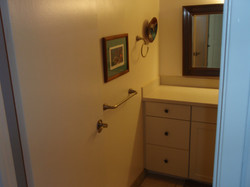 All new towel bars and mirrors