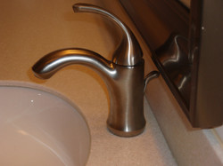 All new faucets thru out