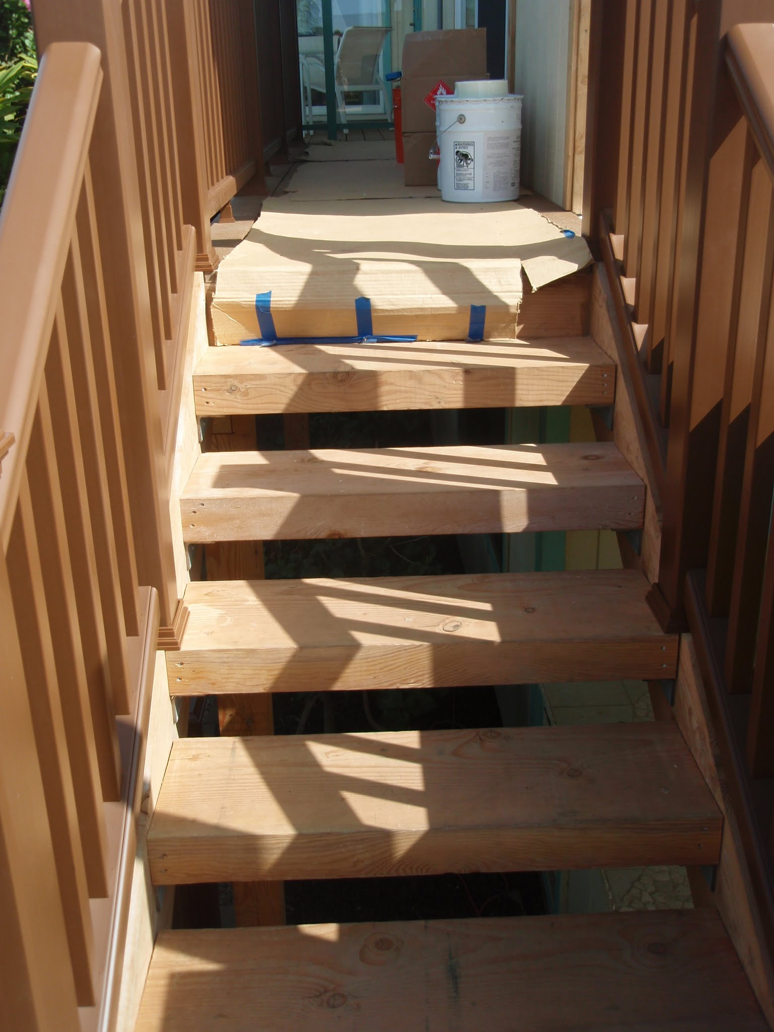 Stair way is ready for caulking & painting