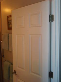 New bathroom door