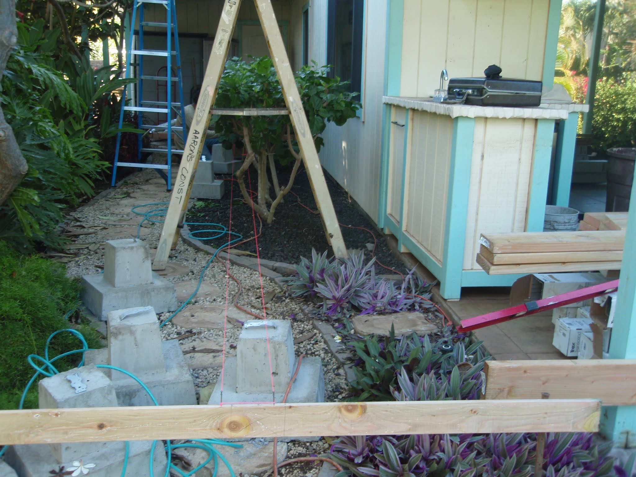 FMHA footing foundation blocks for the bridge supports & the stair landing supports