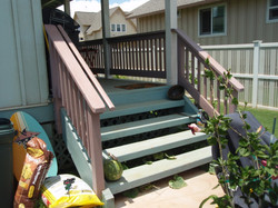 Existing deck & stairs to be removed
