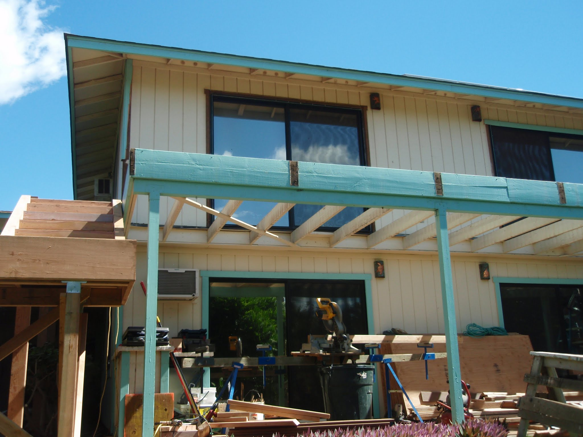 Stripping the old deck now & ready for all the new works.jpg This will become a water proof lid to t
