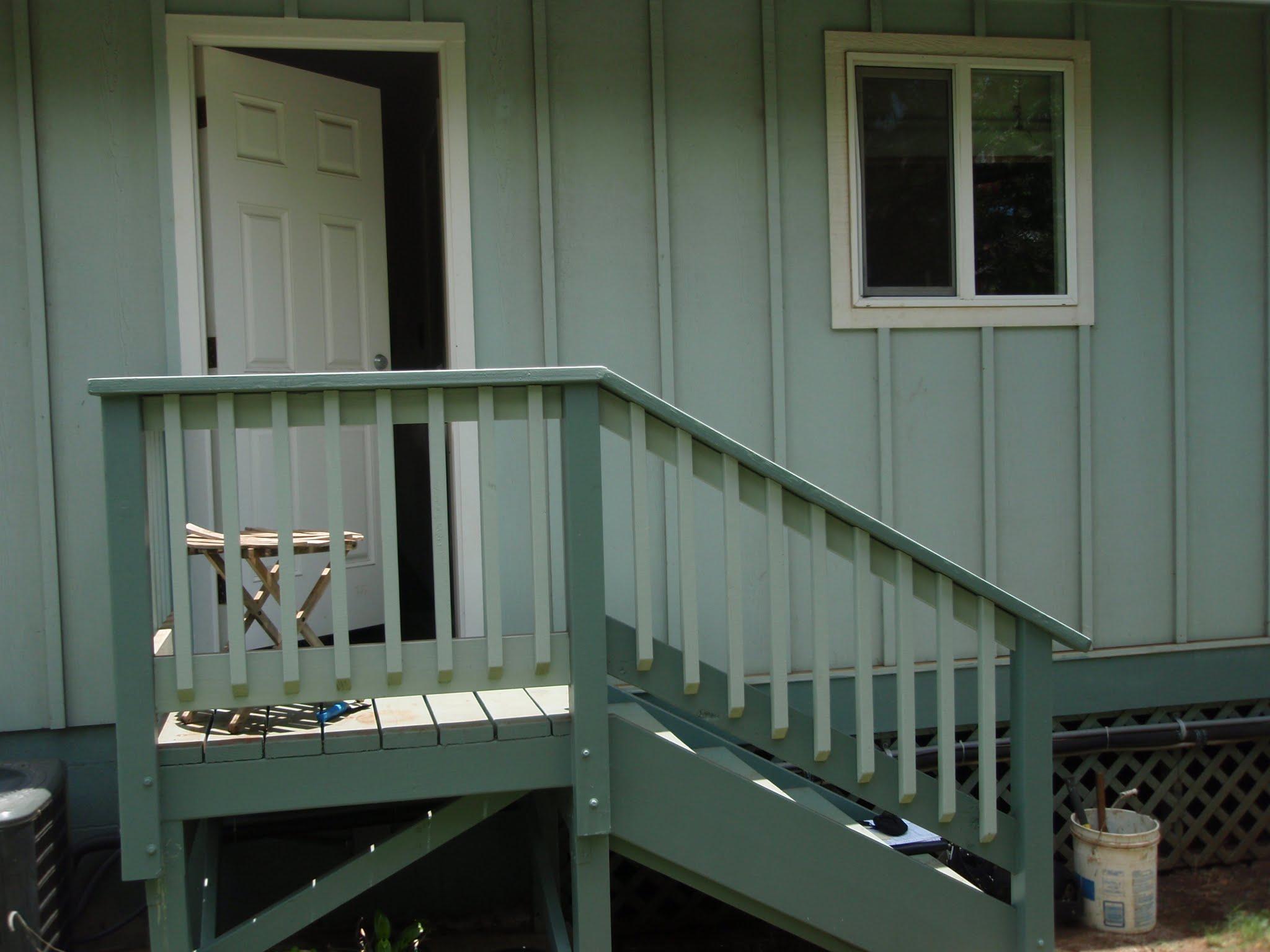 Net back door from garage to rear yard