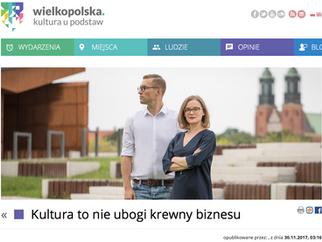"""""""Kultura to nie ubogi krewny biznesu"""". Wywiad dla kulturaupodstaw.pl"""