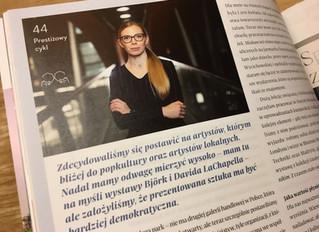 """Wywiad """"Biznes z kulturą"""", listopad 2019"""