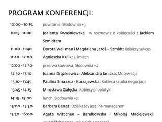 """Ogłoszenie programu konferencji """"Być Kobietą On Tour"""", 6 października 2018, Poznań"""