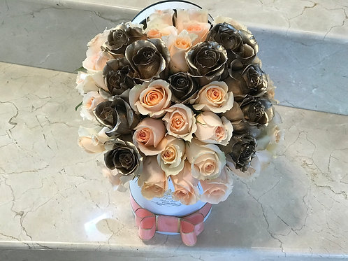 Rose Box with Flower Letter