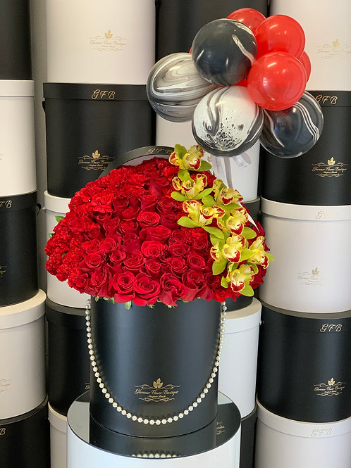 Large Size Red Bouquet With Ballons