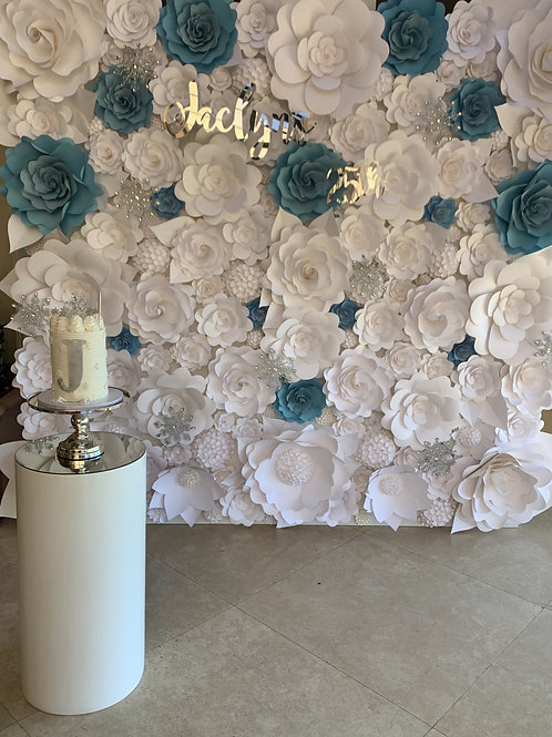 Flower Backdrop in Any custom colors