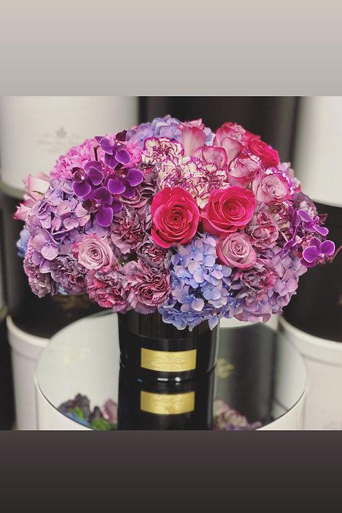 Medium Size round Bouquet in shades of Purple