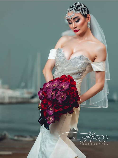 Red Roses Bride Hand Bouquet